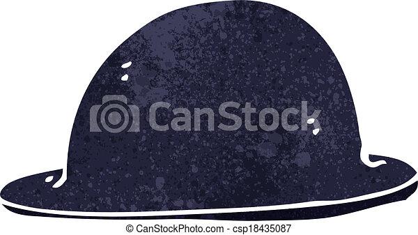 cartoon old bowler hat - csp18435087