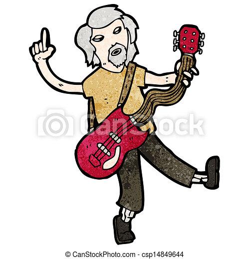 cartoon old guitar player eps vector search clip art illustration rh canstockphoto com bass guitar player clipart guitar player clipart