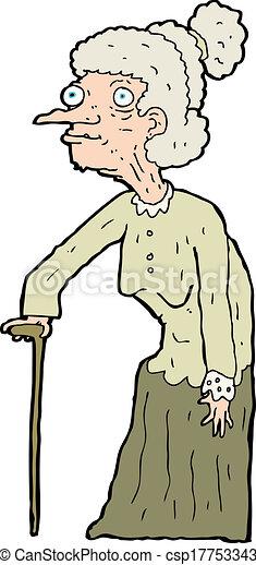 cartoon old woman rh canstockphoto com cartoon old woman cartoon old woman