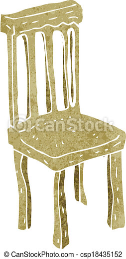 cartoon old wooden chair - csp18435152
