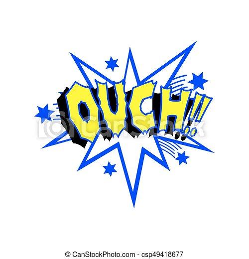 Cartoon Ouch Sound - csp49418677