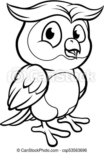 Cartoon Owl Character - csp53563696