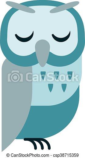Cartoon owl vector - csp38715359
