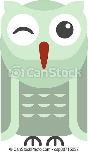 Cartoon owl vector - csp38715237