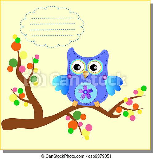 Cartoon Owl (vector version) - csp9379051