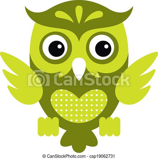 Cartoon Owl_1 - csp19062731