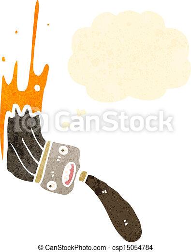 cartoon paintbrush - csp15054784
