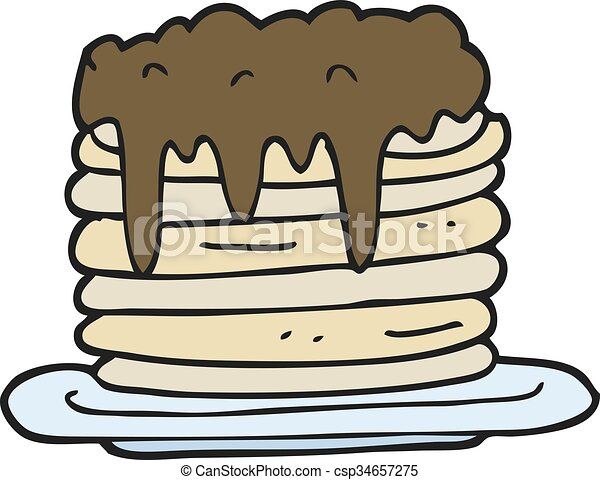 how to draw a stack of pancakes