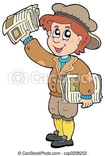 Cartoon paperman - csp3208252