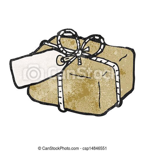 cartoon parcel - csp14846551