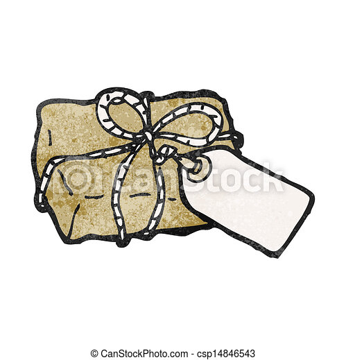cartoon parcel - csp14846543
