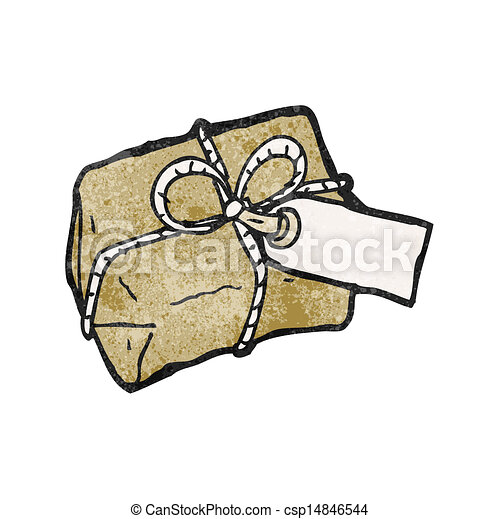 cartoon parcel - csp14846544