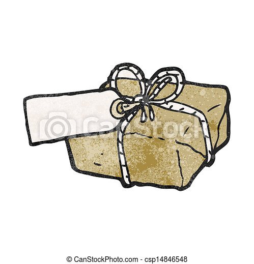 cartoon parcel - csp14846548