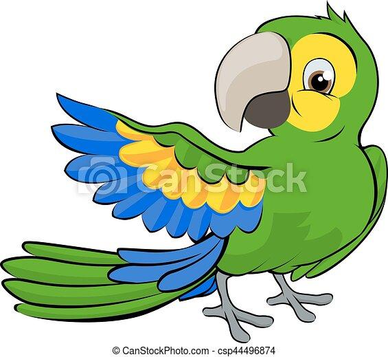 Cartoon Parrot Mascot - csp44496874