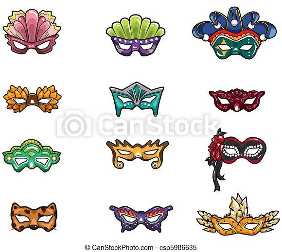 cartoon party mask icon  - csp5986635