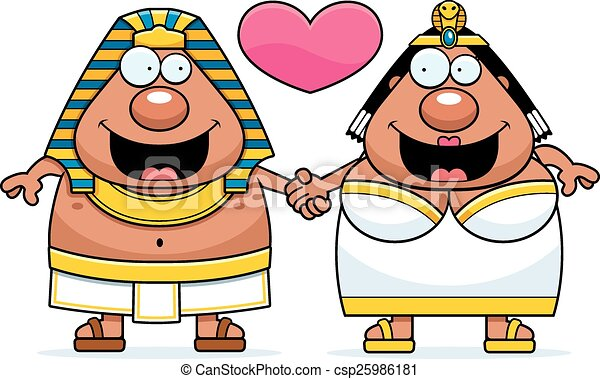 cartoon pharaoh and queen love a cartoon illustration of a rh canstockphoto com pharaoh headdress clipart pharaoh clipart free