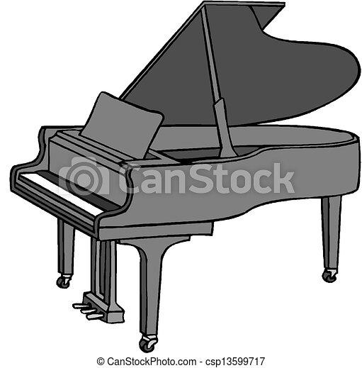 Cartoon piano  - csp13599717