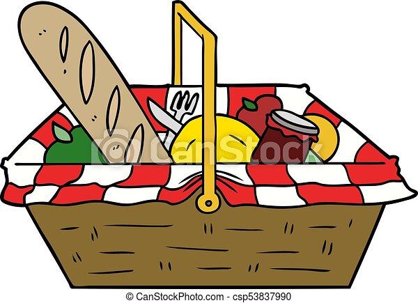 cartoon picnic basket rh canstockphoto com