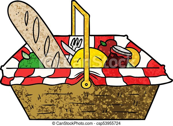 cartoon picnic basket vector illustration search clipart drawings rh canstockphoto com picnic basket clipart free picnic basket clipart black and white