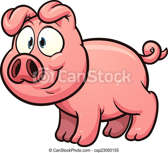 little cartoon pig vector clip art illustration with simple rh canstockphoto ca cartoon pig clipart free