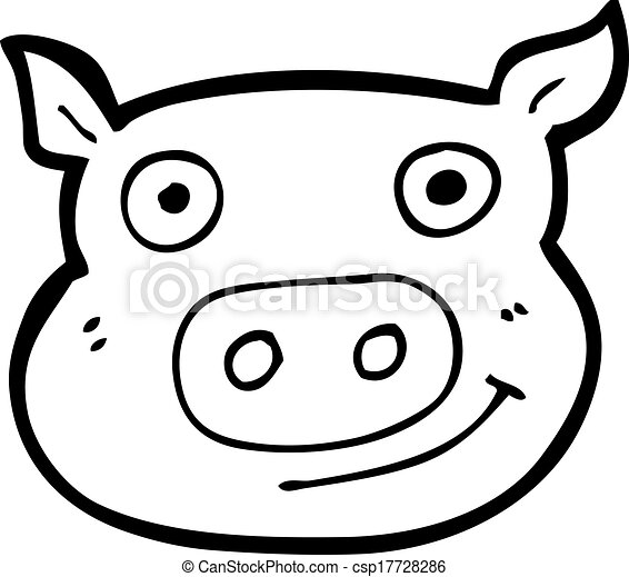 Cartoon Pig Face