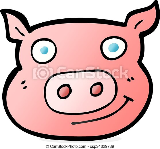 cartoon pig face vectors search clip art illustration drawings rh canstockphoto com
