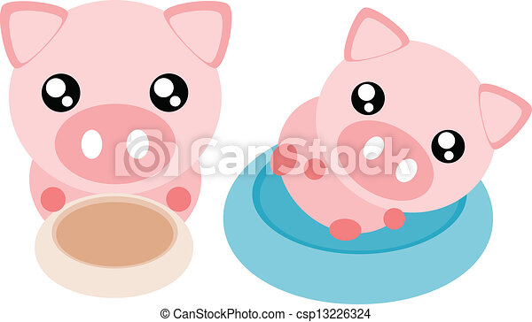 Cartoon pig illustration - csp13226324