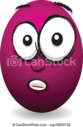 cartoon pink shocked egg face vectors - search clip art