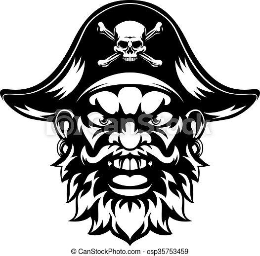 Cartoon Pirate Mascot - csp35753459