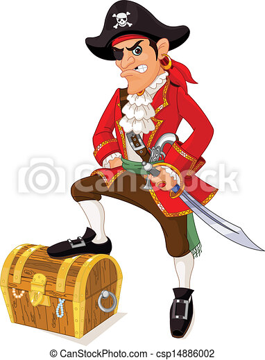 Cartoon pirate - csp14886002