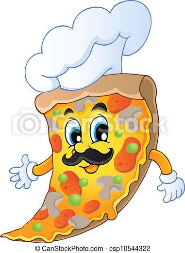 Cartoon pizza chef - csp10544322
