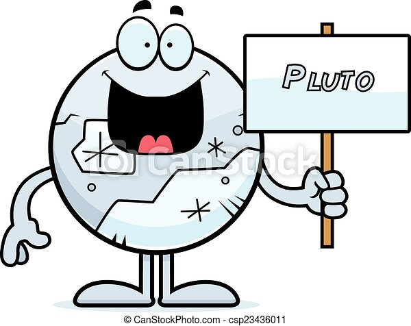 cartoon pluto sign a cartoon illustration of pluto holding rh canstockphoto com pluto clipart pluto clipart free