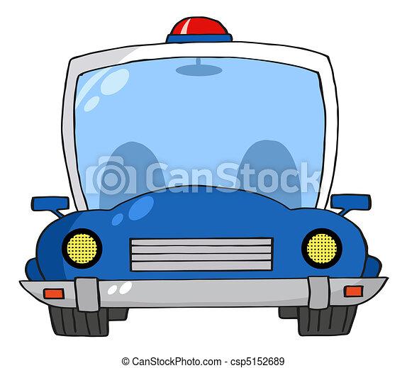 Cartoon Police Car  - csp5152689