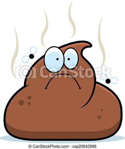 cartoon poop a cartoon pile of brown poop with flies eps vectors rh canstockphoto com