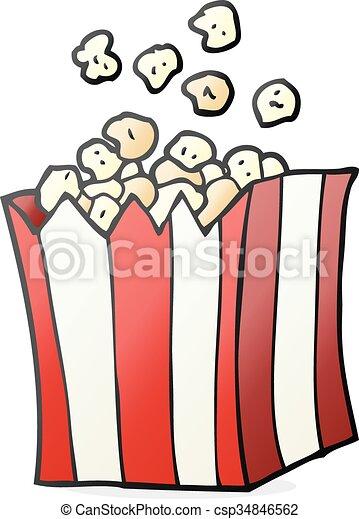 cartoon popcorn - csp34846562
