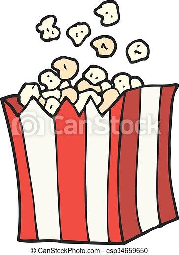 cartoon popcorn - csp34659650