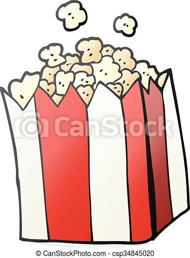 cartoon popcorn - csp34845020