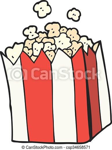 cartoon popcorn - csp34658571