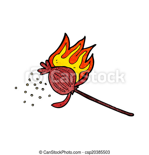 Cartoon Poppy Flower