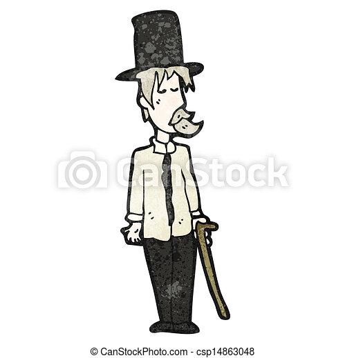 cartoon posh tramp - csp14863048