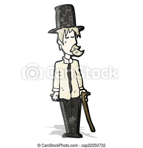 cartoon posh tramp - csp22250732