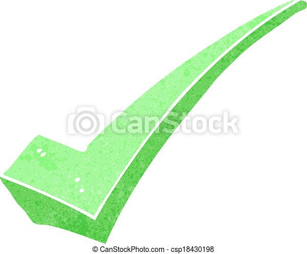 cartoon positive tick symbol - csp18430198