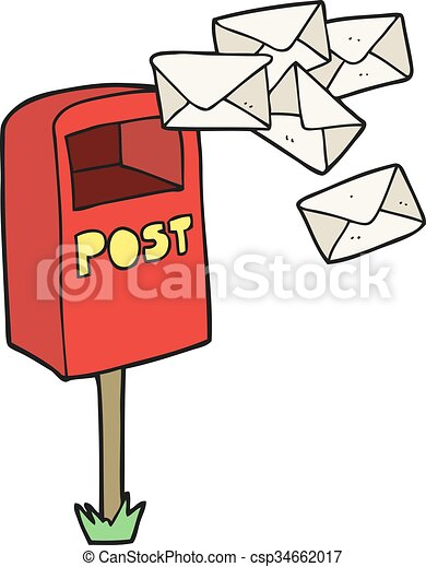 cartoon post box - csp34662017