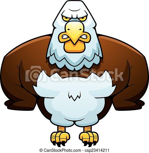 Cartoon Powerful Eagle - csp23414211
