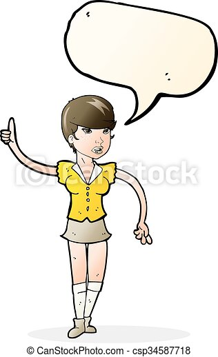 cartoon pretty girl asking question with speech bubble vector clip rh canstockphoto ie pretty baby girl clipart pretty french girl clipart
