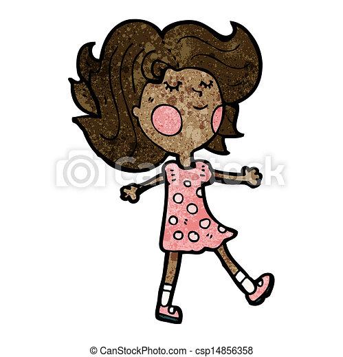 cartoon pretty girl - csp14856358