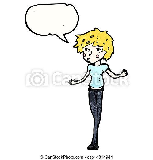 cartoon pretty girl - csp14814944