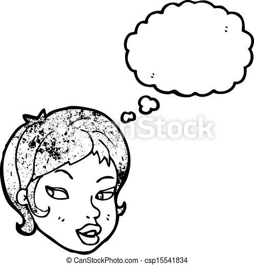 cartoon pretty girl - csp15541834