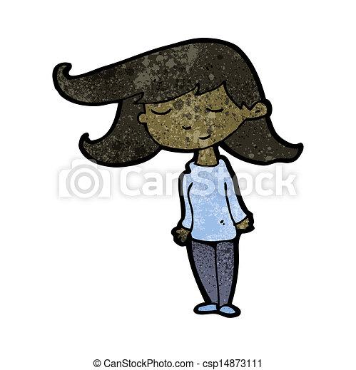 cartoon pretty girl - csp14873111