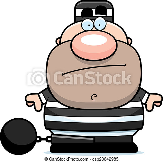 a cartoon prisoner in a prison uniform and ball and chain vector rh canstockphoto com prisoner clip art prison images clip art